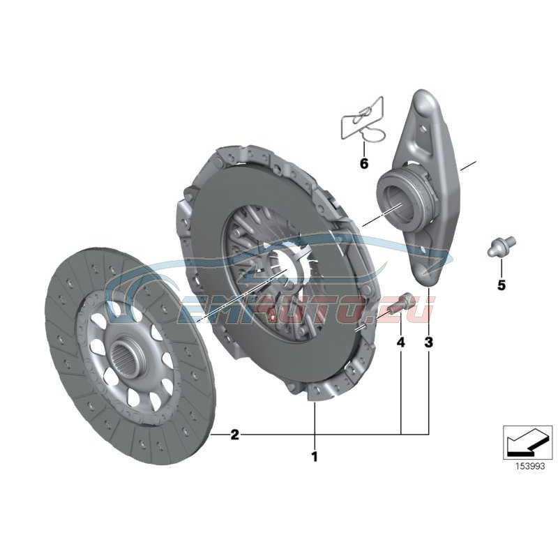 Оригинал BMW Комплект деталей сцепления (21207576519)