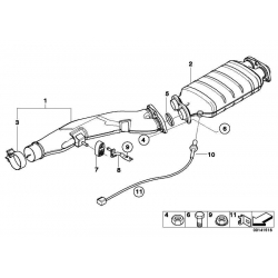 Оригинал BMW Возвратный сажевый фильтр (18307793773)