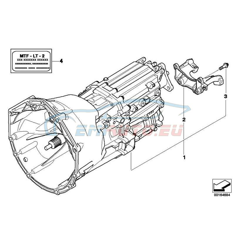 Оригинал BMW Оборотная 6-ступенчатая КПП (23002283601)