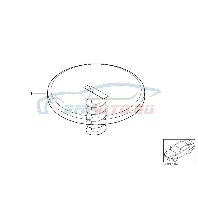 """Оригинал BMW Крепление """"липучка"""" с резьбой (51477056606)"""