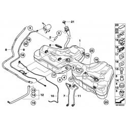 Оригинал BMW Пластм.топл.бак с трубой заливной горл. (16117200082)
