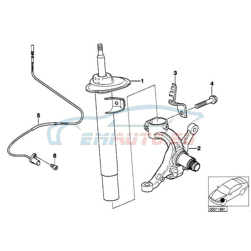 Оригинал BMW Поворотный кулак Л (31211096429)