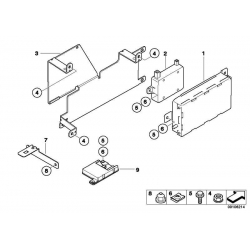 Оригинал BMW Компенсатор провода Dualband (84216932865)
