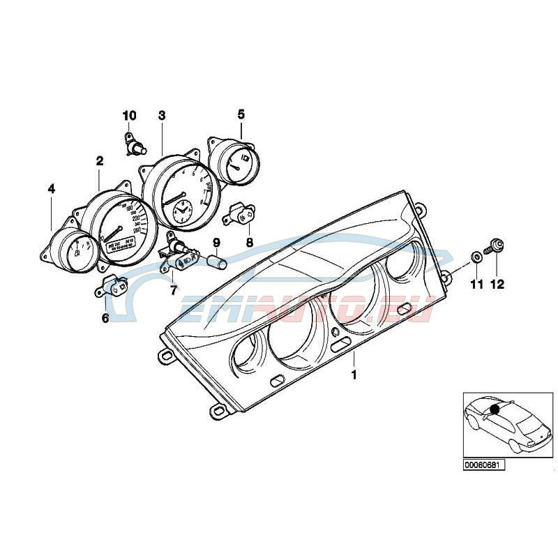 Оригинал BMW Топливный расходомер (62118383649)