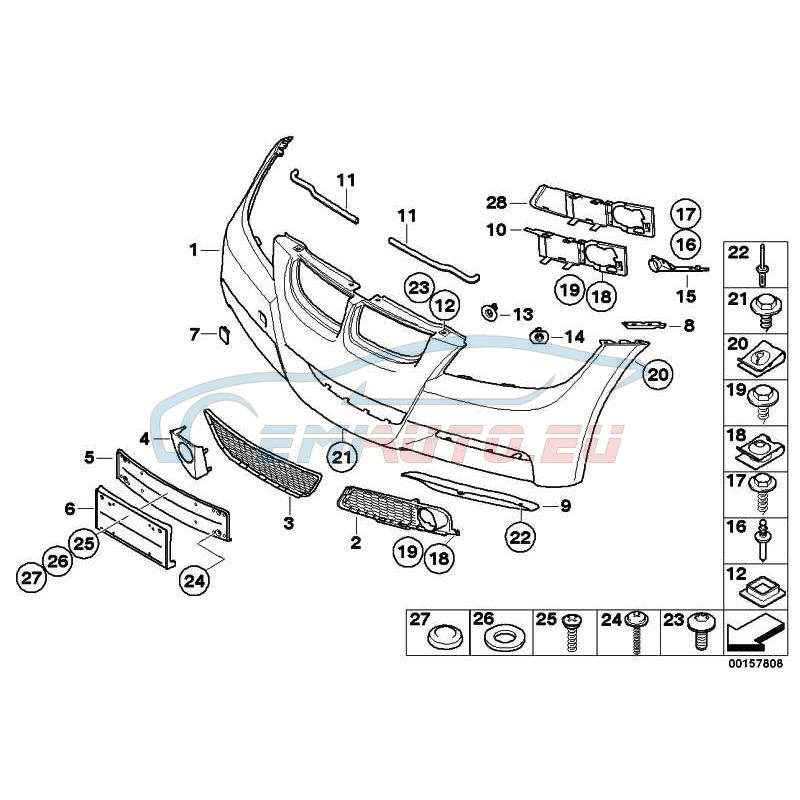 Оригинал BMW Аэрод.пакет Performance Пд грунт. (51118041130)