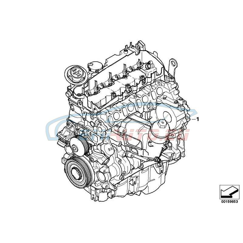 Genuine BMW Short Engine (11002220831)