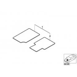 Оригинал BMW Ножной коврик Velours сторона водителя (51478411397)