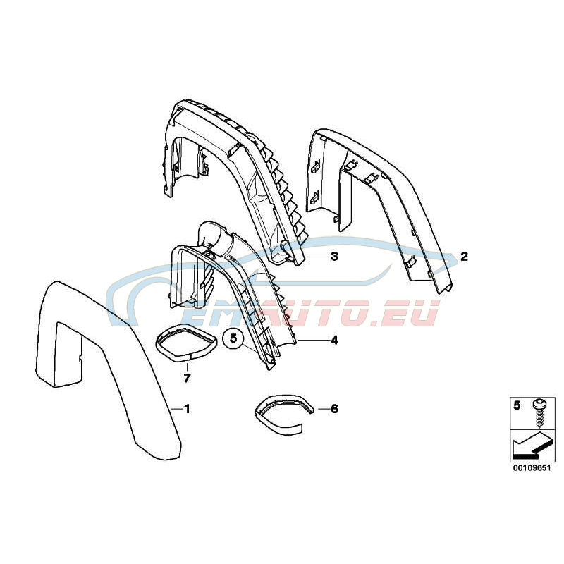 Genuine BMW Covering left (51439173453)