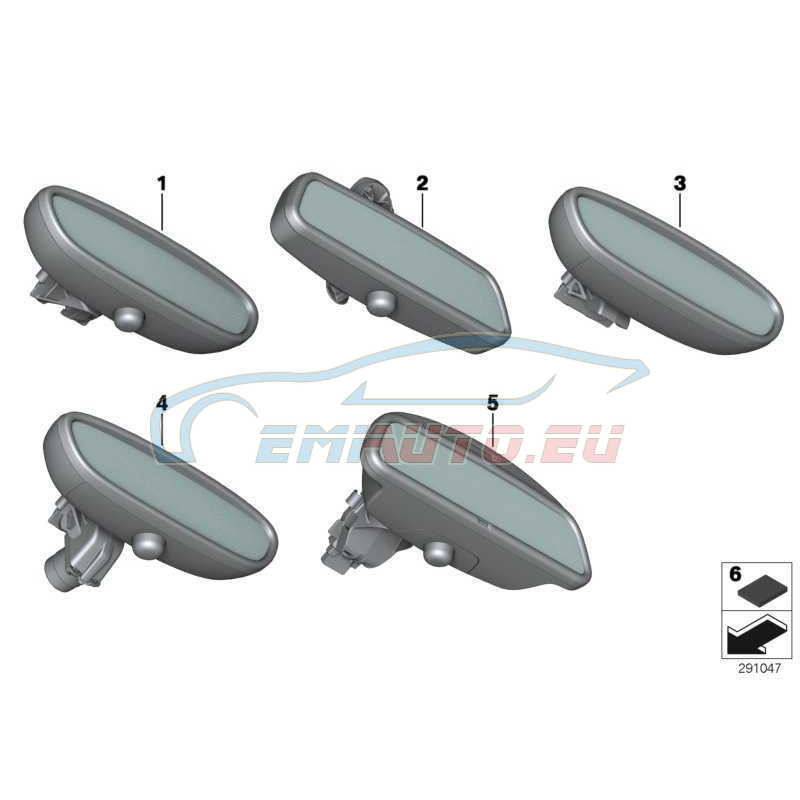 Original BMW Innenspiegel EC / LED (51169256135)