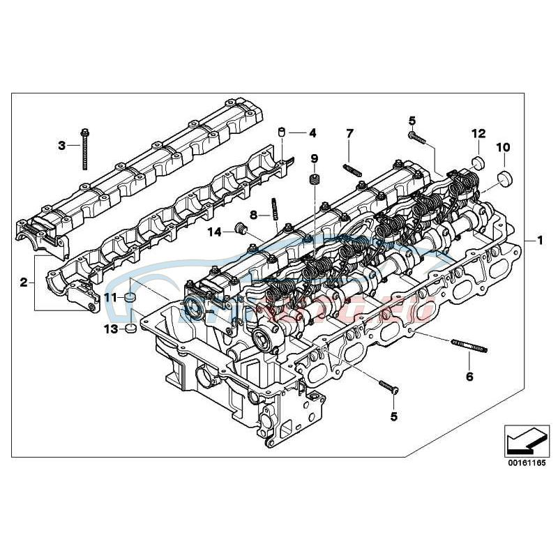 Оригинал BMW Головка блока цил.с приводом клапанов (11127591618)