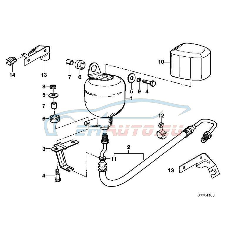 Оригинал BMW Пневмоаккумулятор (37211124595)