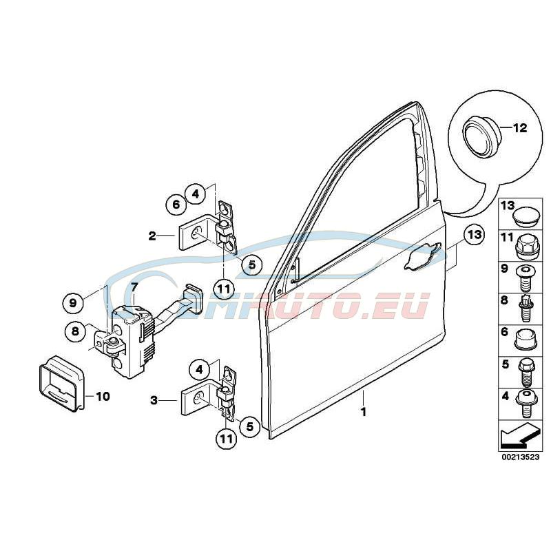 Оригинал BMW Дверь П Пд (41517202340)