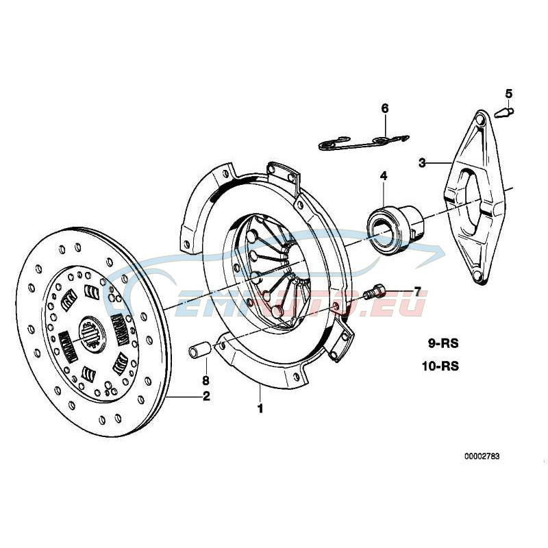 Оригинал BMW Ведомый диск сцепления (21211223678)