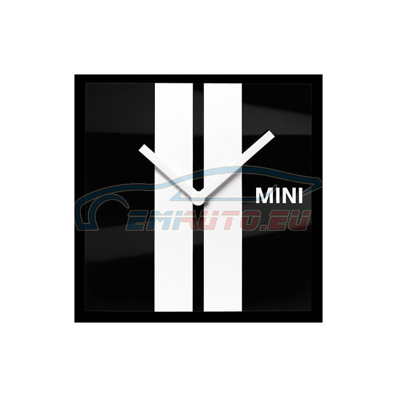 Original MINI WALL CLOCK, racing stripes (80262183218)