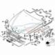 Genuine BMW ENGINE HOOD MECHANISM (51238176595)