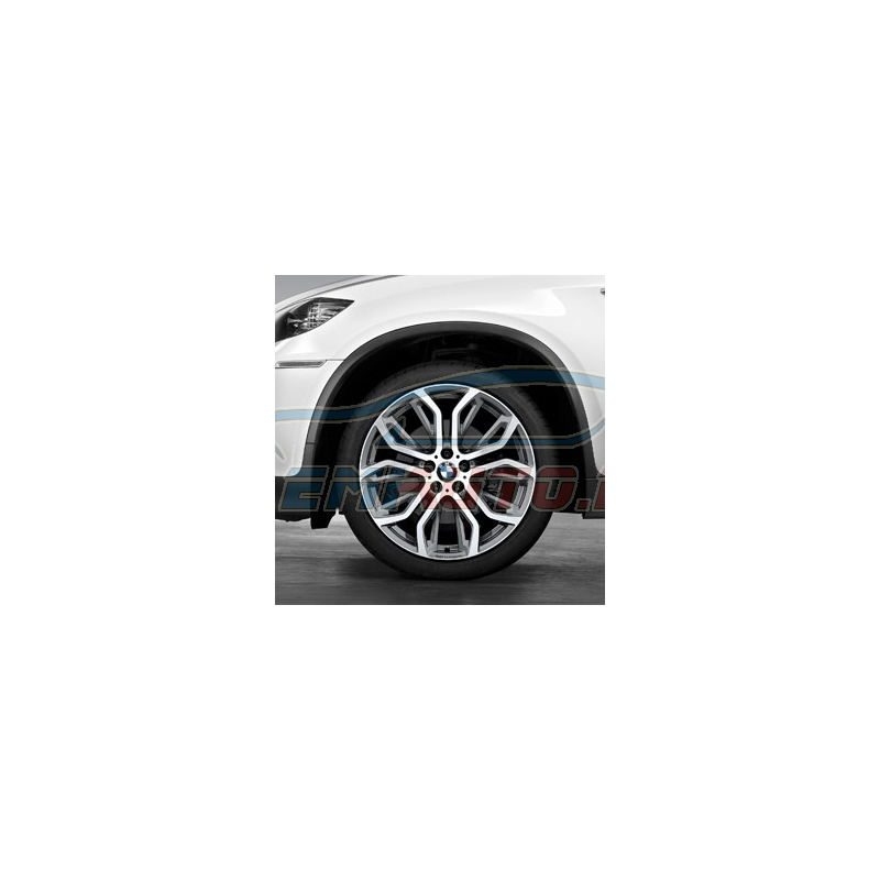 Genuine BMW Wheel/tyre set, summer, polished finish (36112166616)
