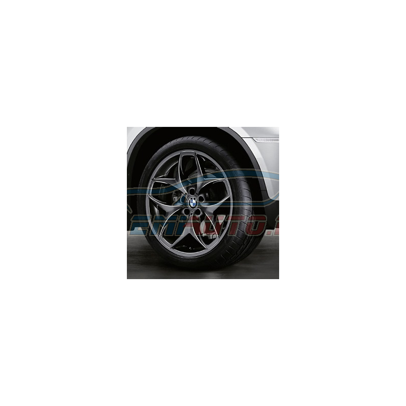 Genuine BMW Wheel/tyre set, summer, black (36110422365)