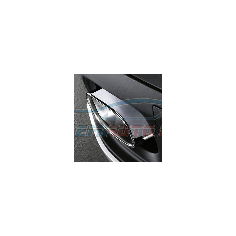 Original BMW Endrohre mit Blende Chrom komplett (18302185392)