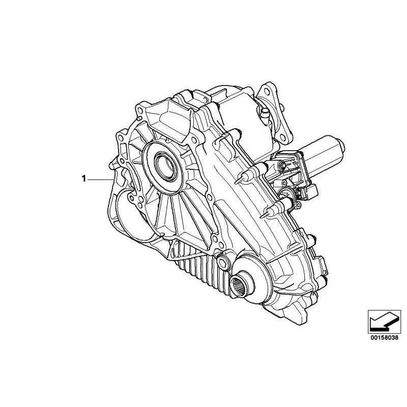 Genuine BMW Exch -AUXILIARY TRANSMISSION (27107599890) -- Worldwide delivery