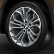 Genuine BMW Disc wheel, light alloy, bright-turned (36116789147)