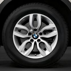 Оригинал BMW Дисковое колесо ЛМ отражающее серебро (36116787576)