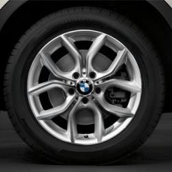Оригинал BMW Дисковое колесо ЛМ отражающее серебро (36116787579)