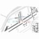 Оригинал BMW Накладка направляющей стойки стекла Л (51347119967)