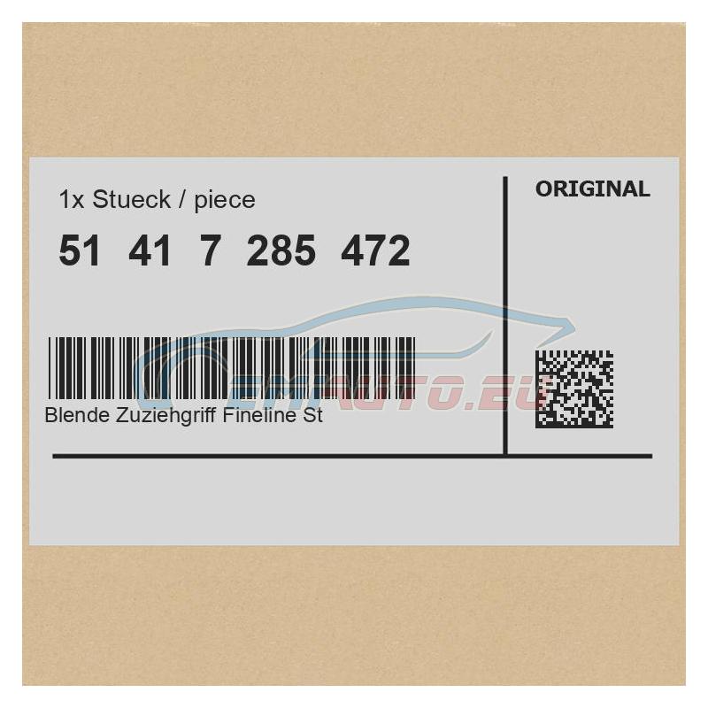 Original BMW Blende Zuziehgriff Fineline Stream re. (51417285472)