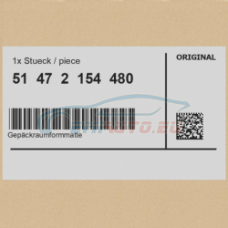 Оригинал BMW Фасонный коврик багажного отделения (51472154480)