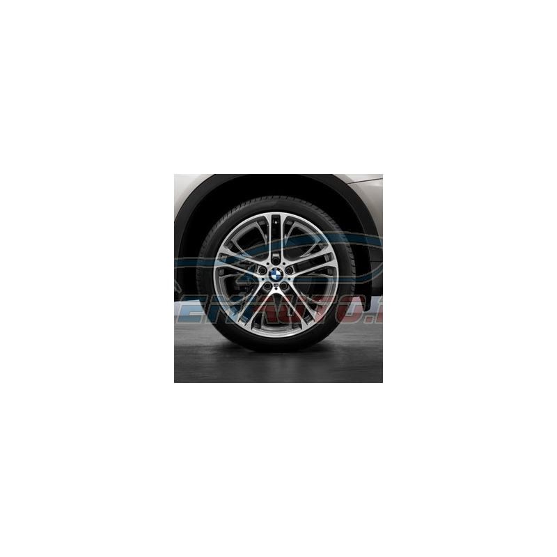 Genuine BMW Wheel/tyre set, summer, polished finish (36112230160)