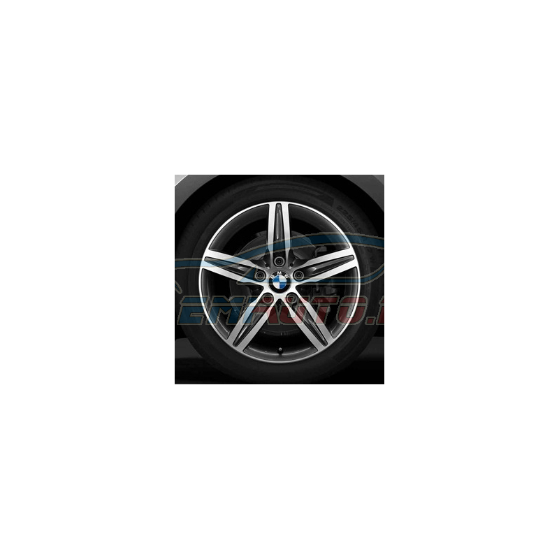 Genuine BMW Disc wheel, light alloy, bright-turned (36116850151)