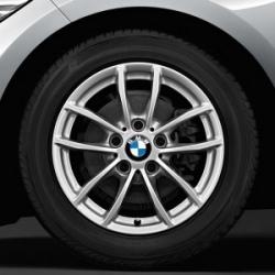 Оригинал BMW Дисковое колесо ЛМ отражающее серебро (36316796202)