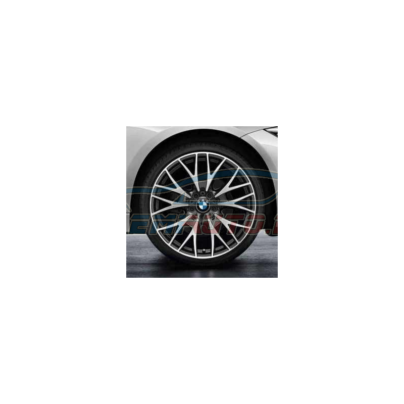 Genuine BMW Disc wheel, light alloy, bright-turned (36116796263)