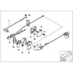 original bmw batteriekabel plus 61123452234 weltweite. Black Bedroom Furniture Sets. Home Design Ideas