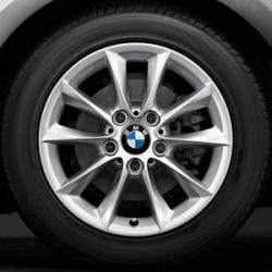 Оригинал BMW Дисковое колесо ЛМ отражающее серебро (36116796200)