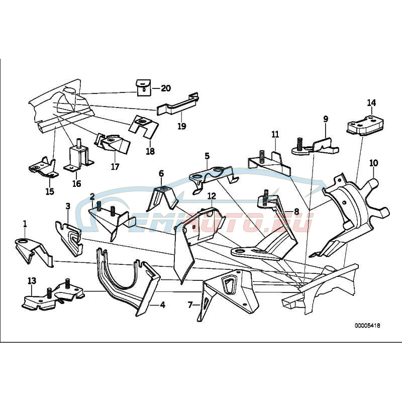 Genuine BMW BRACKET POWER BRAKE UNIT FRONT (41148147939)