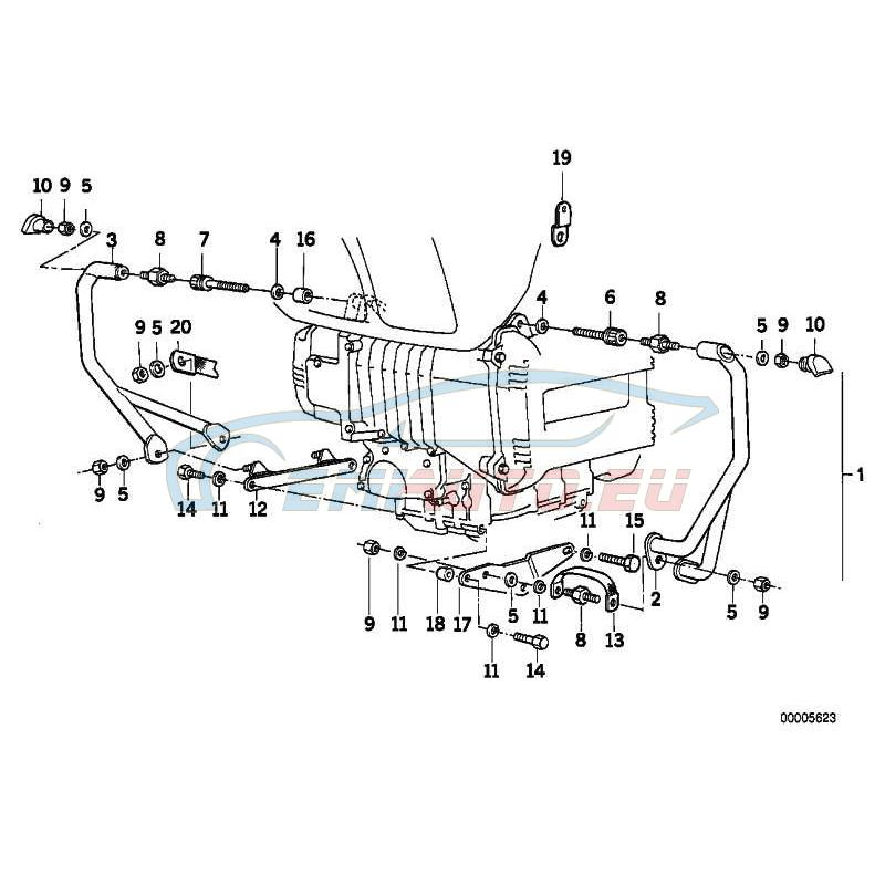 Original BMW Gummilager (46712303070)