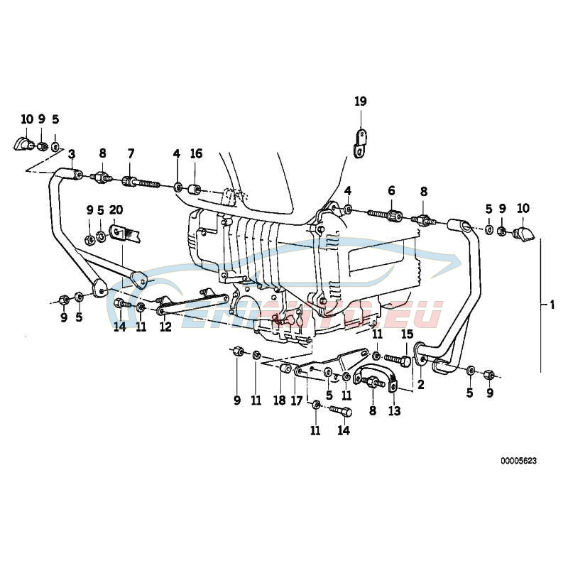 Оригинал BMW Резинометаллический шарнир (46712303070)