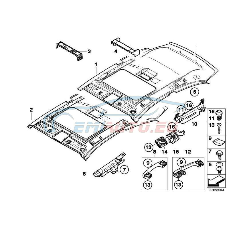 Original BMW Dachhimmel Schiebehebedach (51449136328)