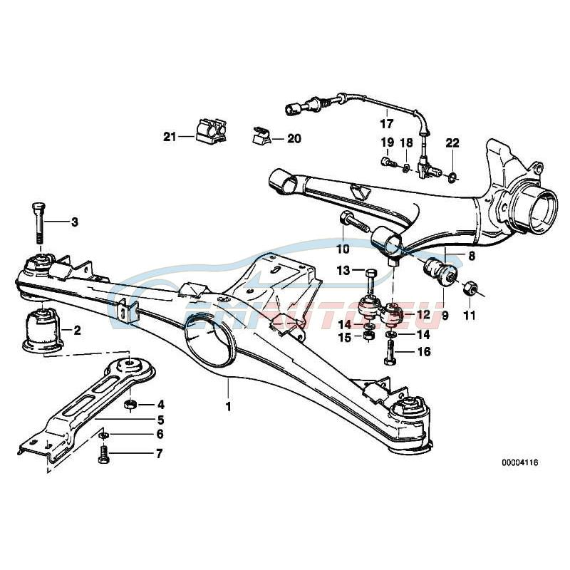 Original BMW Hinterachsträger (33311126009)